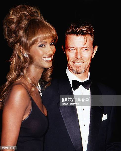 Married couple Somaliborn supermodel Iman and British musician and actor David Bowie attend the 13th Annual Council of Fashion Designers of America...