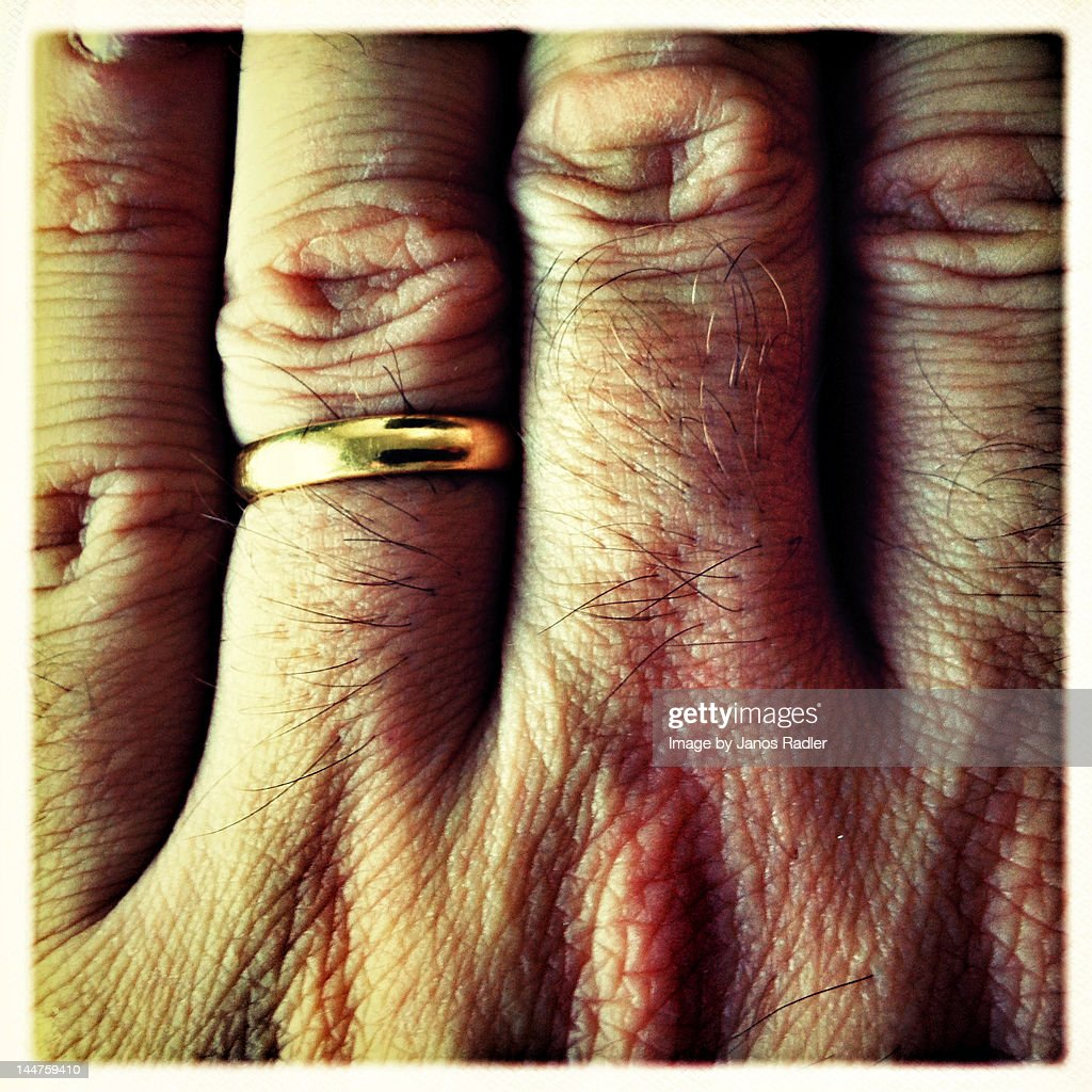 Married hand close-up : Stock Photo