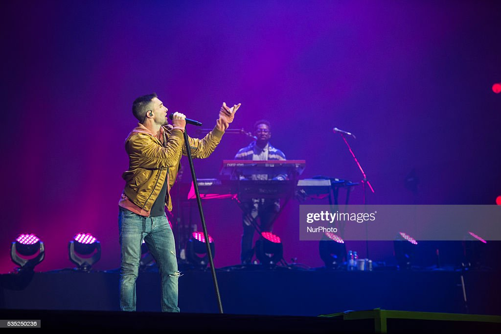 Marron 5 performs at Rock in Rio Lisboa 2016 music festival in Lisbon, Portugal on May 28, 2016.