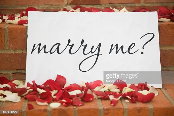 Épouse-moi signe de la Romance, fleurs, pétales de Rose, Surprise, proposition de mariage