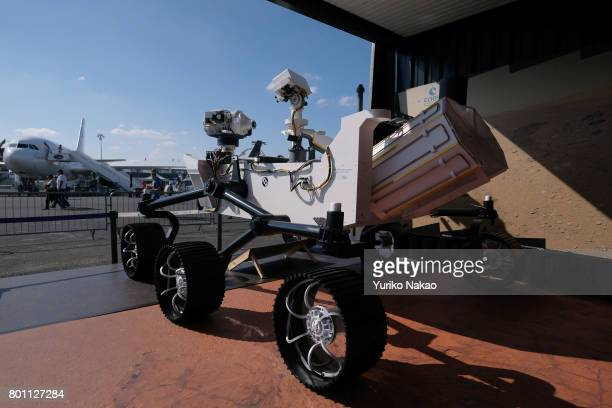 Mars 2020 Rover developed by NASA is on display at the Le Bourget Airport on the first public day of the 52nd International Paris Air Show on June 23...