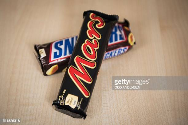 A Mars and a Snickers bar can be seen in Berlin on February 23 2016 'All sweets of the brand Mars and Snickers with a best before date from June 19...