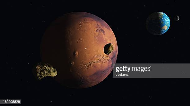 Mars Earth Moons
