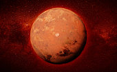 artist's impression of the neighbour planet Mars