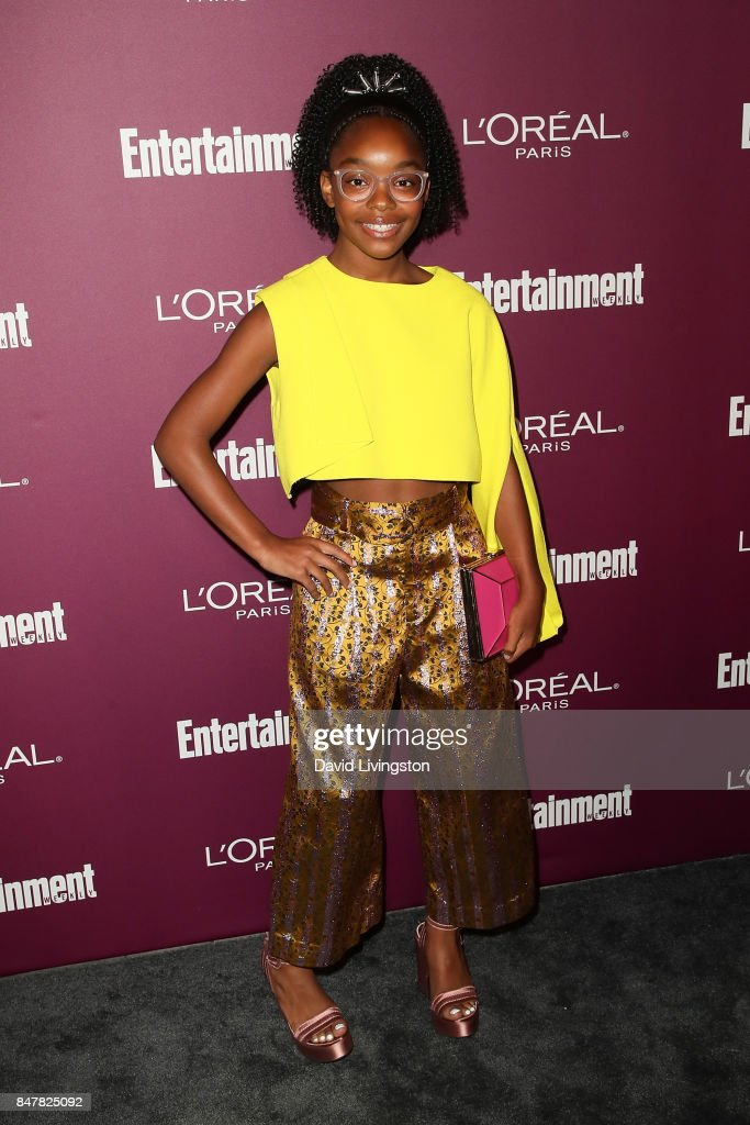 Marsai Martin attends the Entertainment Weekly's 2017 Pre-Emmy Party at the Sunset Tower Hotel on September 15, 2017 in West Hollywood, California.