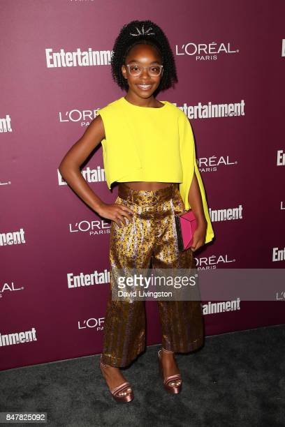 Marsai Martin attends the Entertainment Weekly's 2017 PreEmmy Party at the Sunset Tower Hotel on September 15 2017 in West Hollywood California
