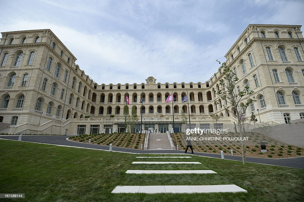 Marseille 18th century Hotel-Dieu former hospital is pictured on April 25, 2013 in Marseille, on the eve of its re-opening as a five stars hotel Intercontinental.