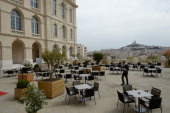 Marseille 18th century HotelDieu former hospital is pictured on April 25 2013 in Marseille on the eve of its reopening as a five stars hotel...