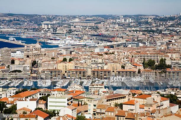 Marseille view from the Notre Dame de la Garde's hill