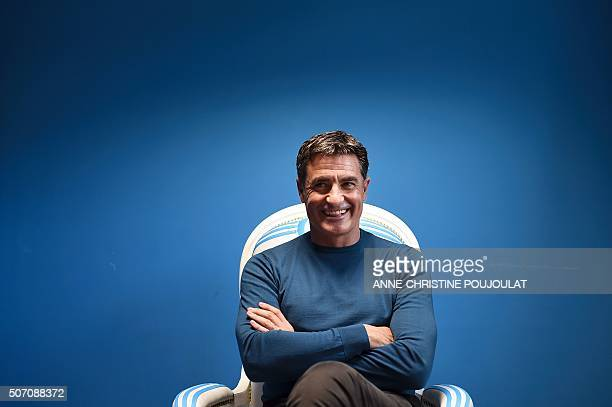 Marseille's football club Spanish head coach Jose Miguel Gonzalez Martin del Campo also know as Michel poses on January 27 2016 at the Olympique de...