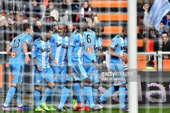 FBL-FRA-LIGUE1-LORIENT-MARSEILLE : News Photo