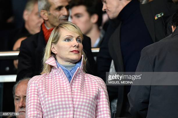 Marseille's owner Margarita LouisDreyfus attends the French L1 football match Paris SaintGermain vs Olympique de Marseille on November 9 2014 at the...