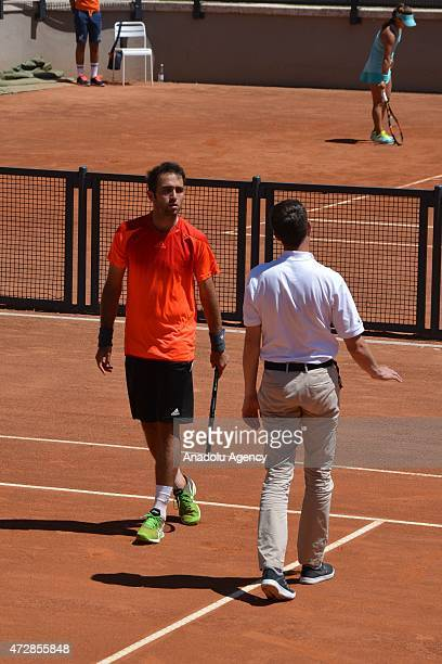 Marsel Ilhan of Turkey is seen after his match against Gianluca Mager of Italy at Foro Italico in Rome Italy on May 10 for entering the main table in...