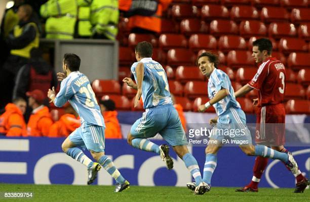Marselle's Mathieu Valbuena celebrates his goal