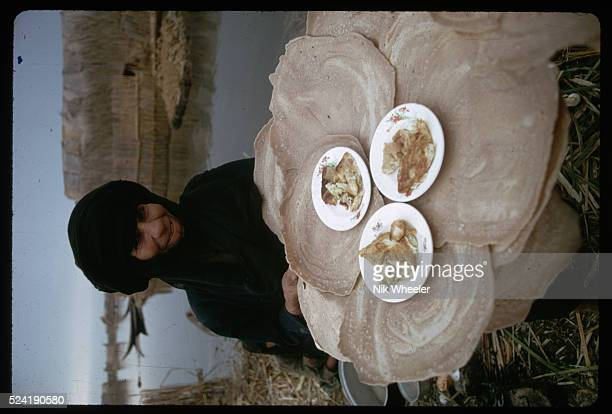 Marsh Arab Woman With Breakfast