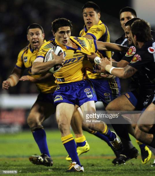 Marsh of the Parramatta Eels in action during the NRL qualifying final match between the Warriors and the Parramatta Eels at Mount Smart Stadium...