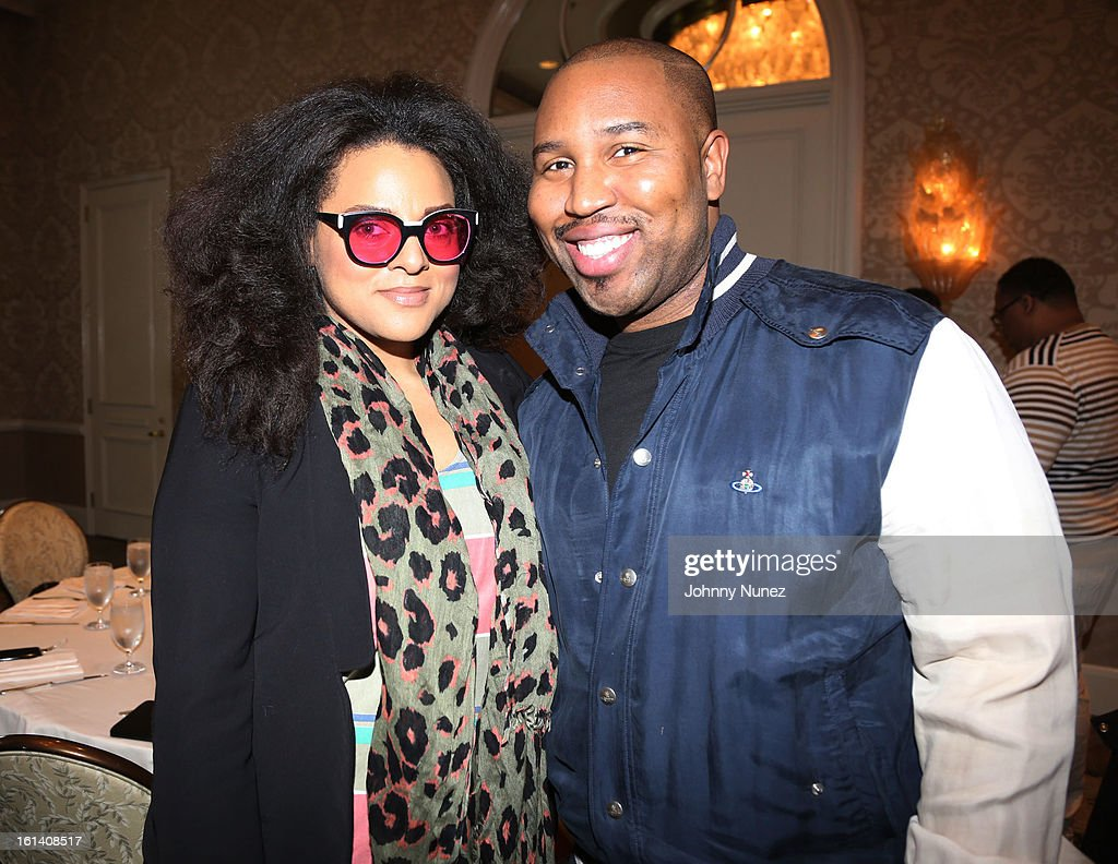 Marsha Ambrosius and Claude Kelly attend The 9th Annual Bryan-Michael Cox/SESAC Brunch Honoring Ludacris at Four Seasons Hotel Los Angeles at Beverly Hills on February 10, 2013 in Beverly Hills, California.