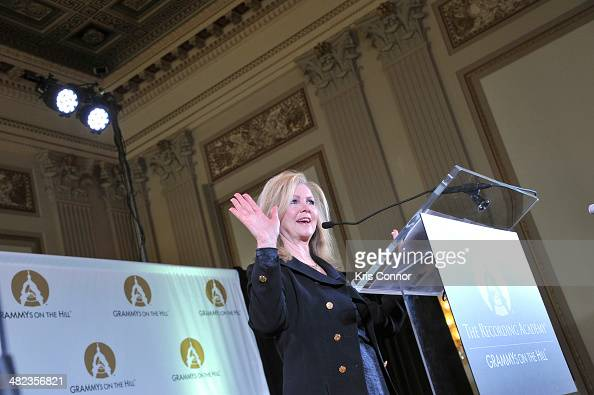 Marsha Blackburn speaks during an issue briefing to kick off the Grammy's on the hill lobbying day at Cannon House Office Building on April 3 2014 in...