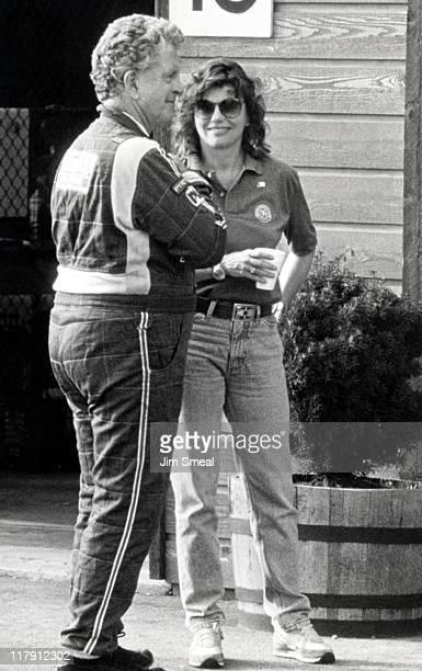 Marsha Mason and Jim Fitzgerald during SCCA Bendix Trans Am Race at MidOhio Racetrack in Lexington Ohio United States
