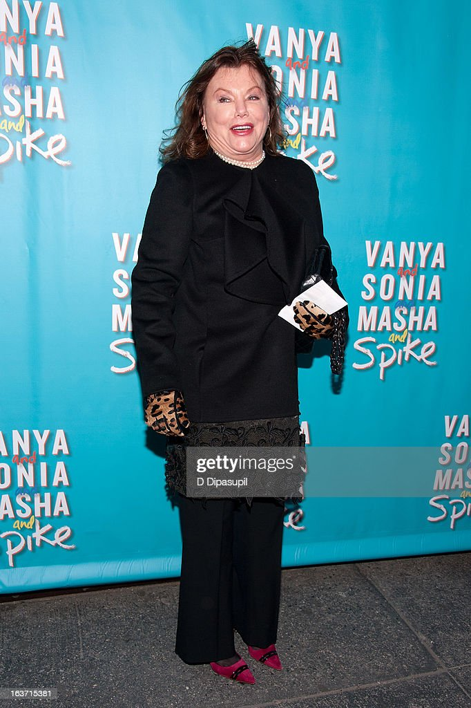 <a gi-track='captionPersonalityLinkClicked' href=/galleries/search?phrase=Marsha+Mason&family=editorial&specificpeople=209323 ng-click='$event.stopPropagation()'>Marsha Mason</a> attends the 'Vanya And Sonia And Masha And Spike' Broadway Opening Night at The Golden Theatre on March 14, 2013 in New York City.