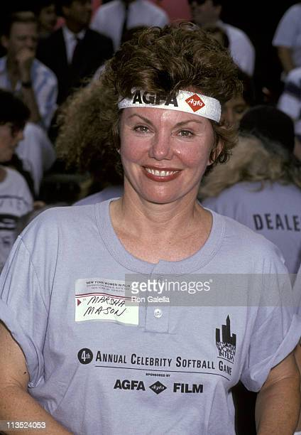Marsha Mason during Women In Film's 4th Annual Softball Game at Central Park in New York City New York United States