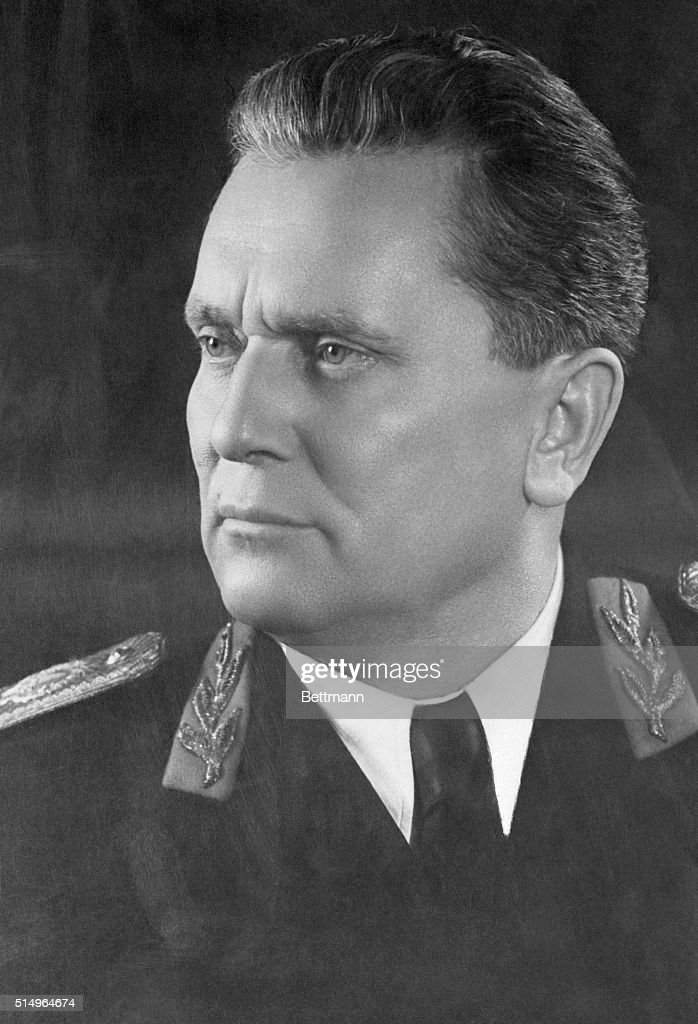 Marshal <a gi-track='captionPersonalityLinkClicked' href=/galleries/search?phrase=Josip+Broz+Tito&family=editorial&specificpeople=93742 ng-click='$event.stopPropagation()'>Josip Broz Tito</a> in uniform.