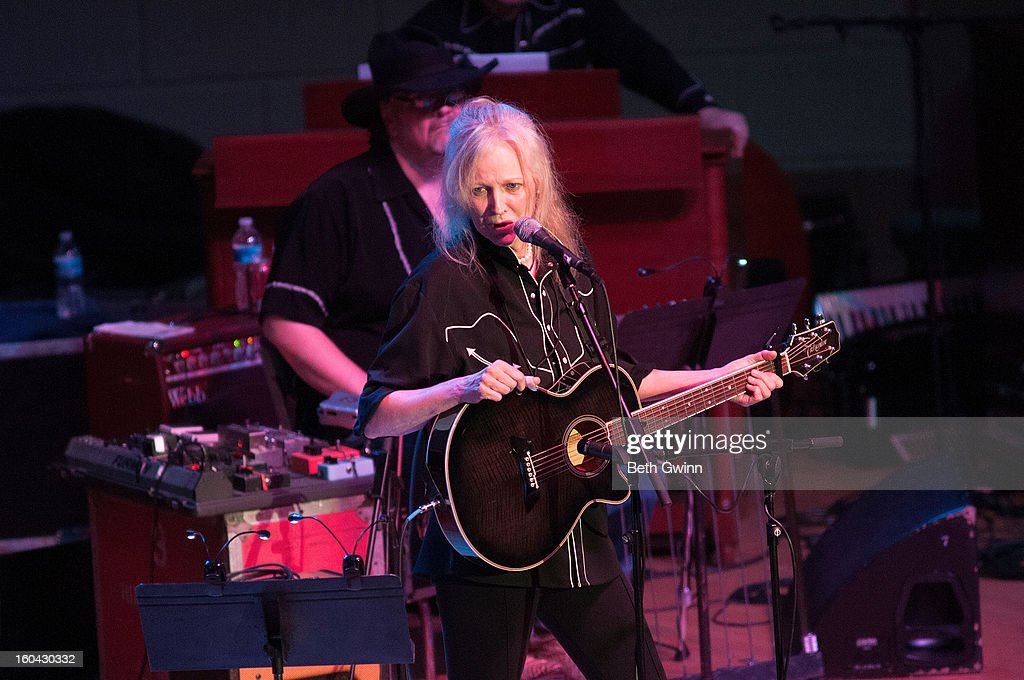 Marshall Chapman performs during the Tribute to Cowboy Jack Clement at War Memorial Auditorium on January 30, 2013 in Nashville, Tennessee.
