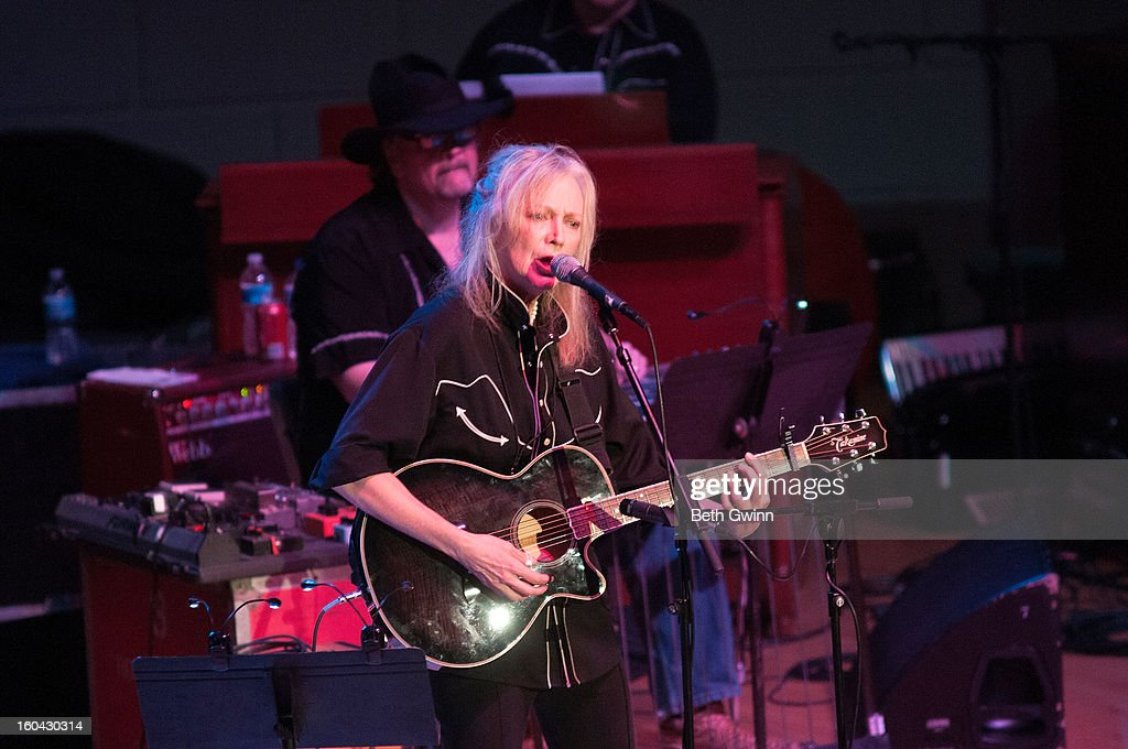 Marshall Chapmen performs during the Tribute to Cowboy Jack Clement at War Memorial Auditorium on January 30, 2013 in Nashville, Tennessee.