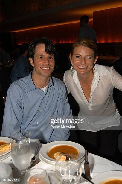 Marshall Curry and Lisa Bloom attend Screening of 'Street Fight' by Marshall Curry at Bryant Park Hotel on June 28 2005 in New York City