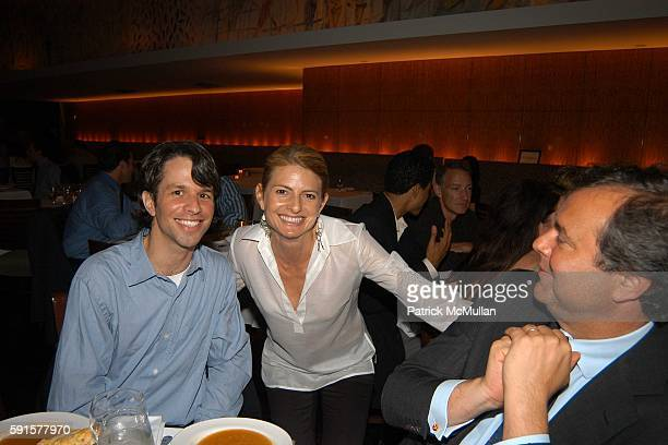 Marshall Curry Lisa Bloom and Mario CalvoPlatero attend Screening of 'Street Fight' by Marshall Curry at Bryant Park Hotel on June 28 2005 in New...