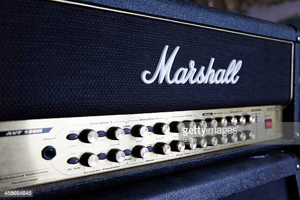 Marshall guitar amplifier and logo