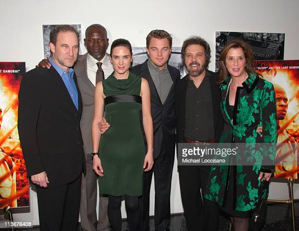 Marshall Herskovitz producer Djimon Hounsou Jennifer Connelly Leonardo DiCaprio Edward Zwick director and Paula Weinstein producer