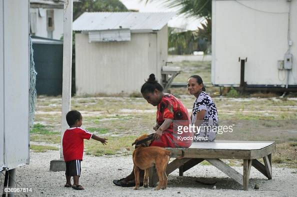 RONGELAP Marshall Islands Members of a family of an unidentified worker on the Marshall Islands atoll of Rongelap are pictured in March 2014 Rongelap...