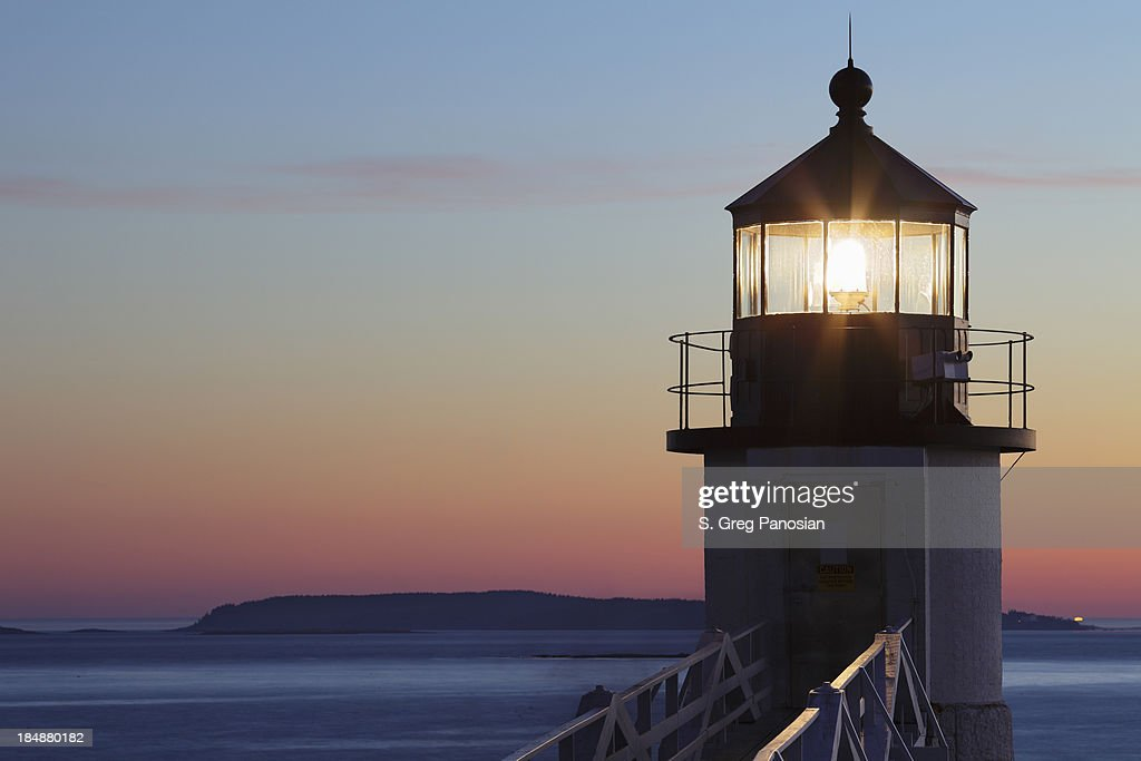Marshall Point Lighthouse in Port Clyde, Maine : Stock Photo