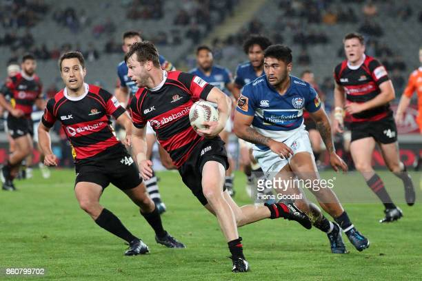 Marshall Suckling of Canterbury makes a break during the round nine Mitre 10 Cup match between Auckland and Canterbury at Eden Park on October 13...