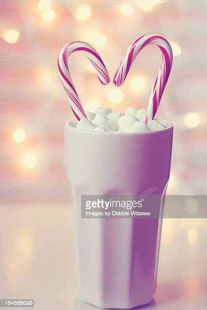 Marshmallow and candy canes
