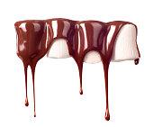 marshmallow in milk chocolate