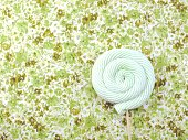 marshmallow lollipop on colorful background