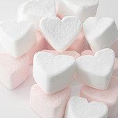 Marshmallow love hearts
