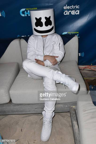 Marshmello attends the SiriusXM Music Lounge at 1 Hotel South Beach on March 23 2017 in Miami Florida