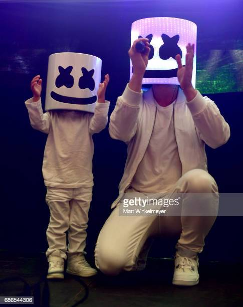 Marshmello performs at the Boom Boom Tent during 2017 Hangout Music Festival on May 21 2017 in Gulf Shores Alabama