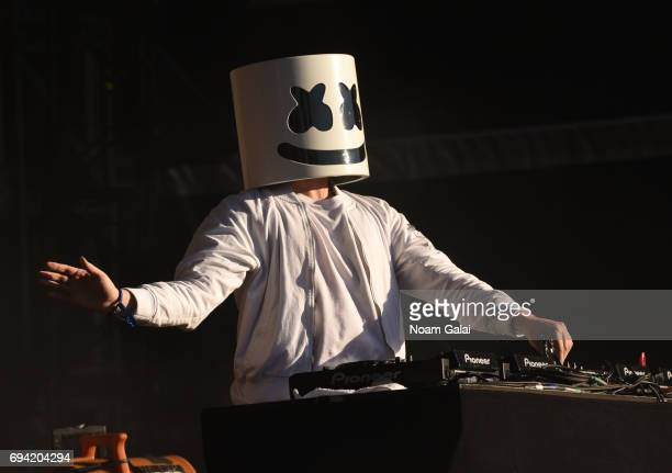 Marshmello performs during 2017 Governors Ball Music Festival Day 2 at Randall's Island on June 3 2017 in New York City