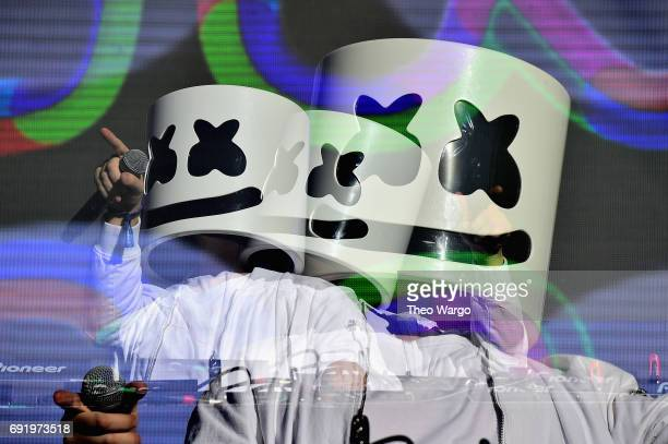Marshmello performs onstage during the 2017 Governors Ball Music Festival Day 2 at Randall's Island on June 3 2017 in New York City