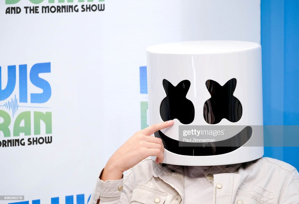 Marshmello visits 'The Elvis Duran Z100 Morning Show' at Z100 Studio on August 21, 2017 in New York City.