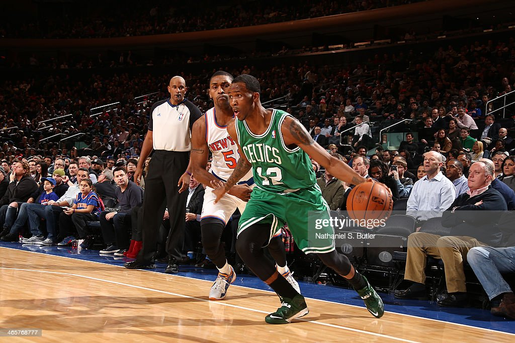 <a gi-track='captionPersonalityLinkClicked' href=/galleries/search?phrase=MarShon+Brooks&family=editorial&specificpeople=4884862 ng-click='$event.stopPropagation()'>MarShon Brooks</a> #12 of the Boston Celtics drives to the basket against the New York Knicks at Madison Square Garden in New York City on January 28, 2014.