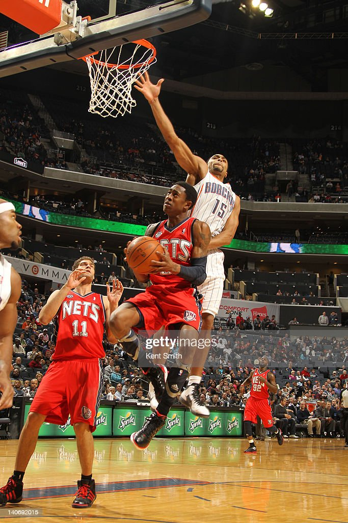 <a gi-track='captionPersonalityLinkClicked' href=/galleries/search?phrase=MarShon+Brooks&family=editorial&specificpeople=4884862 ng-click='$event.stopPropagation()'>MarShon Brooks</a> #9 of the New Jersey Nets goes to the basket against Gerald Henderson #15 of the Charlotte Bobcats on March 4, 2012 at the Time Warner Cable Arena in Charlotte, North Carolina.