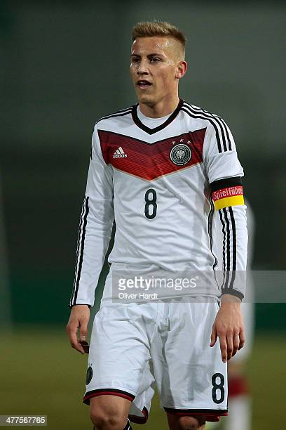 Mart Ristl of Germany appears frustrated during the U18 International Friendly Match match between Germany and France at Stadion an der Lohmuehle on...