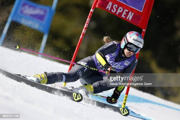 Marta Bassino of Italy competes during the Audi FIS Alpine Ski World Cup Finals Women's Giant Slalom and Men's Slalom on March 19 2017 in Aspen...