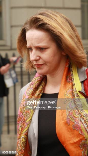 Marta Bukarewicz the wife of HMRC press officer Jonathan Hall leaves Westminster Magistrates court having been charged with conspiracy to commit...