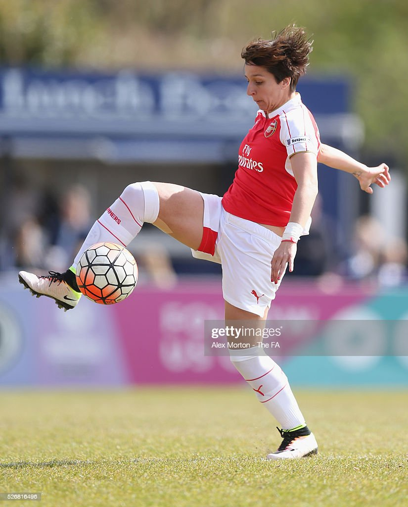<a gi-track='captionPersonalityLinkClicked' href=/galleries/search?phrase=Marta+Corredera&family=editorial&specificpeople=8671709 ng-click='$event.stopPropagation()'>Marta Corredera</a> of Arsenal during the WSL match between Arsenal Ladies and Birmingham City Ladies at Meadow Park on May 1, 2016 in Borehamwood, England.